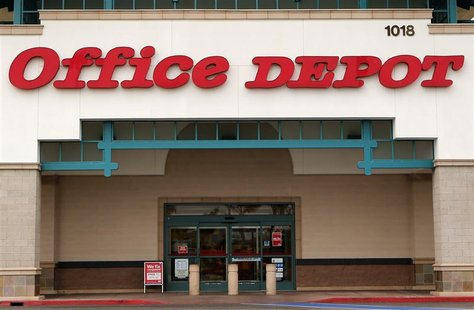 An Office Depot store is pictured in Encinitas, California, February 19, 2013. Office Depot, the No. 2 U.S. office supply retailer, is in ad