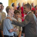 Holland High's Connor Bos (L) has met President Obama (courtesy photo)