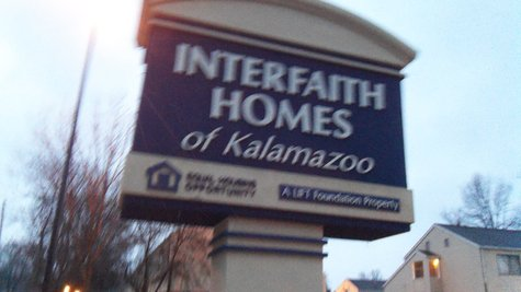 Interfaith Homes is located off Interfaith Boulevard on the northwest corner of the Northside of Kalamazoo.  Most of it is made up of subsidized housing sponsored by the Lift Foundation of Kalamazoo.