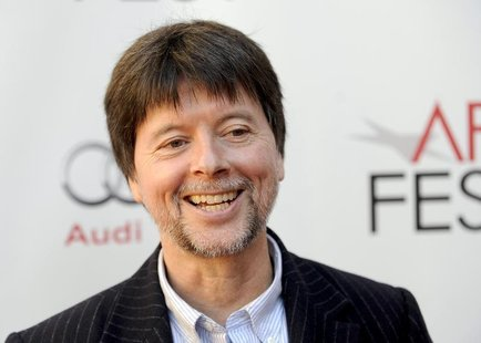 "Director Ken Burns arrives at the Hollywood screening of his movie ""The Central Park Five"" during AFI FEST in Los Angeles, California Novemb"