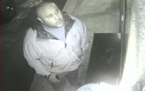 Christopher Dorner is seen on a surveillance video at an Orange County hotel on January 28, 2013 in this still image released by the Irvine