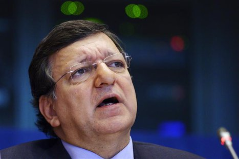 European Commission President Jose Manuel Barroso attends a debate on the EU's long-term budget at the EU parliament in Brussels February 18