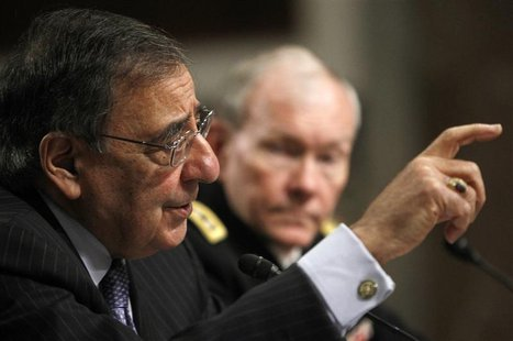 U.S. Secretary of Defense Leon Panetta (L) and U.S. Army General Martin Dempsey, the Chairman of the Joint Chiefs of Staff, testify on the D