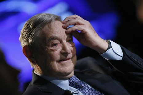 Billionaire investor George Soros of Soros Fund Management attends the annual meeting of the World Economic Forum (WEF) in Davos January 26,