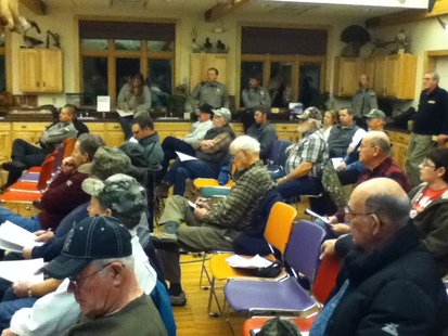 Hunters hear deer CWD presentation at the Mead Wildlife Center 2/19/13