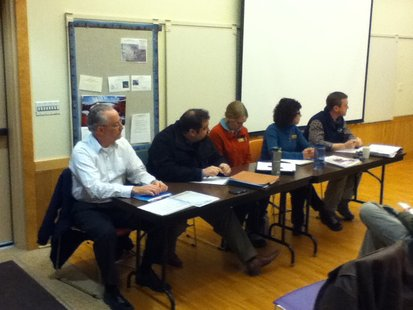 DNR Panel presents information about Chronic Wasting Disease in deer to public meeting at Mead Wildlife Center 2/19/13.