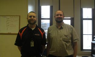 Quincy teachers Brandon Suever and Robert Evans