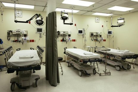 Hospital beds in a file photo. REUTERS/Lee Celano