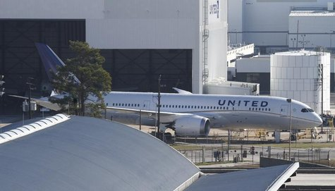 United Airlines 787 Dreamliner jets are seen parked on the tarmac at George Bush Intercontinental Airport in Houston, Texas January 17, 2013