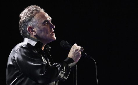 British singer-songwriter Morrissey performs during the International Song Festival in Vina del Mar city, about 121 km (75 miles) northwest