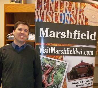 Marshfield's new Convention & Visitor's Bureau Director Matt McClean