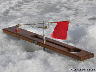 Ice fishing tip-up (courtesy of FOX 11)