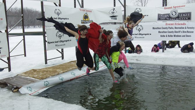 All of the characters came out for the 2013 Wausau Polar Plunge
