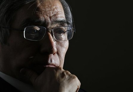 Asian Development Bank President Haruhiko Kuroda attends a group interview in Tokyo February 11, 2013. REUTERS/Toru Hanai (JAPAN - Tags: BUS