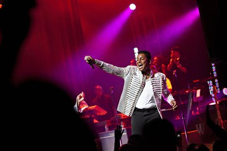 Jermaine Jackson of the musical group The Jacksons performs during the group's Unity Tour at the Apollo Theater in New York June 28, 2012.RE