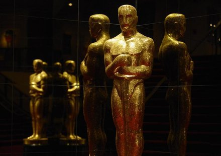 An Oscar statue is seen at the Academy of Motion Picture Arts and Sciences following the 85th Academy Awards nominee announcements in Beverl