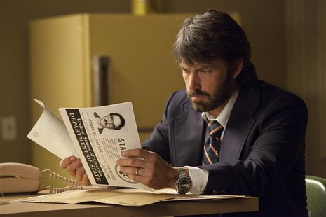 "Actor Ben Affleck is shown in a scene from his film ""Argo"" in this publicity photo released to Reuters February 21, 2013. REUTERS/Claire Fol"