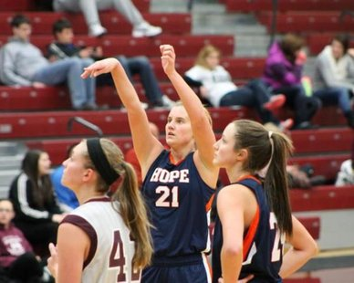 Hope College's Courtney Kust (photo courtesy Hope College)