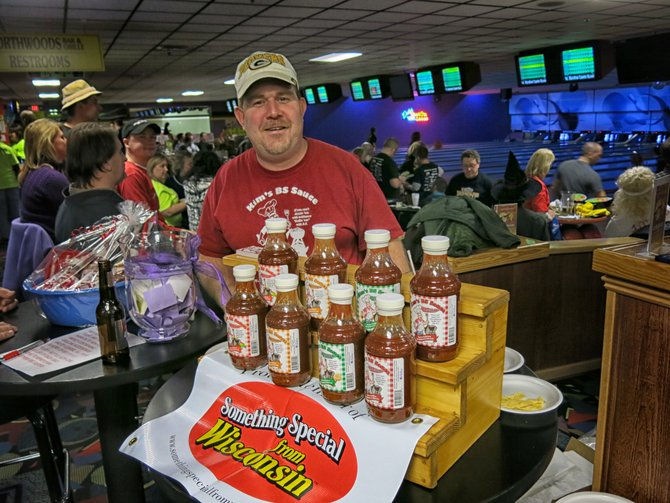 Kim Lemke featured his BS BBQ Sauce..dollar from every bottle went to Big Brothers and Big Sisters!