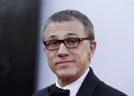 "Christoph Waltz, best supporting actor nominee for his role in ""Django Unchained"", arrives at the 85th Academy Awards in Hollywood, Californ"