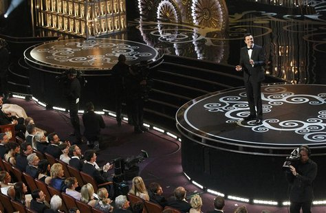 Oscars host Seth MacFarlane speaks on stage at the start of the 85th Academy Awards in Hollywood, California February 24, 2013. REUTERS/Mari