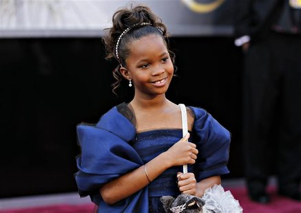 "Quenzhane Wallis, best actress nominee for her role in ""Beasts of the Southern Wild"", arrives at the 85th Academy Awards in Hollywood, Calif"