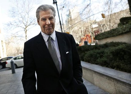 Macy's Chief Executive Terry Lundgren arrives at the New York state Supreme Court in Manhattan February 25, 2013. REUTERS/Brendan McDermid