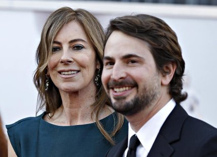 "Director Kathryn Bigelow and screenwriter Mark Boal of ""Zero Dark Thirty"", which is nominated for Best Picture Oscar, arrive at the 85th Aca"