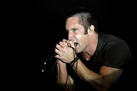 Trent Reznor of music group Nine Inch Nails performs at the Voodoo Music Experience concert held at Riverview Park in New Orleans, Louisiana
