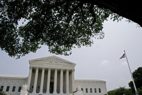 The U.S. Supreme Court building in Washington is seen shortly after Justice Sandra Day O'Connor submitted a letter of resignation to Preside