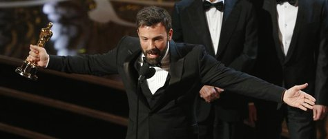 "Director and producer Ben Affleck accepts the award for best motion picture for ""Argo"" at the 85th Academy Awards in Hollywood, California F"
