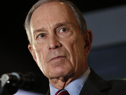 New York City Mayor Michael Bloomberg speaks during his final State of the City speech at the Barclay's Center in Brooklyn, New York, Februa