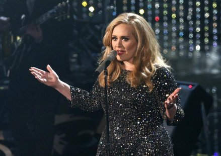 "British singer Adele perfoms the song ""Skyfall"" from film ""Skyfall,"" nominated as best orginal song, at the 85th Academy Awards in Hollywood"