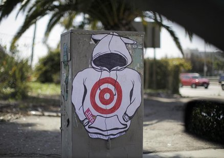 A graffiti tribute to unarmed Florida teenager Trayvon Martin, who was shot to death, is seen in Santa Monica, California, in this file phot