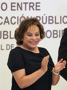 Elba Esther Gordillo, leader of Mexico's teacher's union, attends an event in Puebla in this April 7, 2011 file photograph. Mexico on Februa