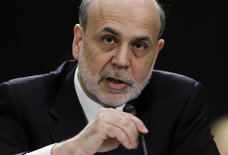 "Federal Reserve Board Chairman Ben Bernanke testifies before a Senate Banking, Housing and Urban Affairs Committee hearing on ""The Semiannua"