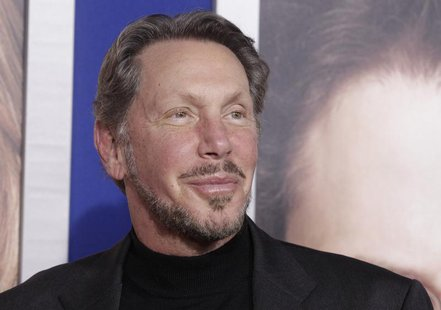 "Larry Ellison, co-founder and CEO of Oracle Corporation, arrives at the premiere of ""The Guilt Trip"" starring Barbra Streisand and Seth Roge"