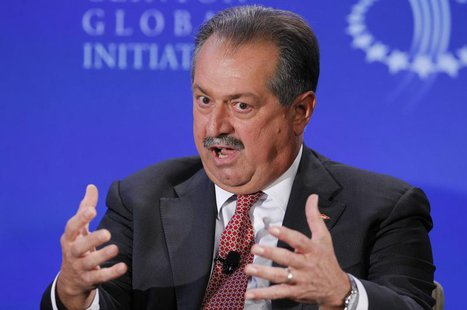 "Andrew Liveris, Chairman and CEO of the Dow Chemical Company, participates in a group discussion on ""Business by Design: Business with Integ"