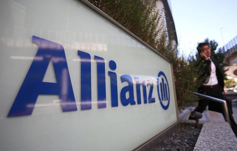 A logo of Europe's biggest insurer Allianz is pictured in Tokyo October 19, 2012. REUTERS/Yuriko Nakao