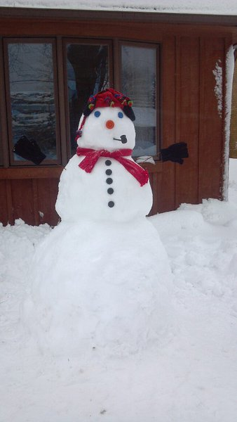 Snowmen popping up everywhere.