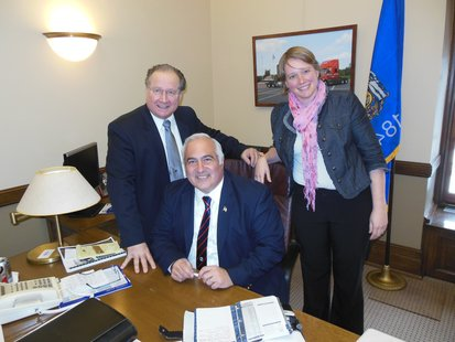 State Senator Jerry Petrowski (R-Marathon) and Representatives John Spiros (R-Marshfield) and Mandy Wright (D-Wausau) (left to right)
