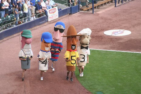 Klements Racing Sausages (courtesy of baseballphd.net)