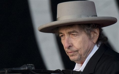 Singer songwriter Bob Dylan