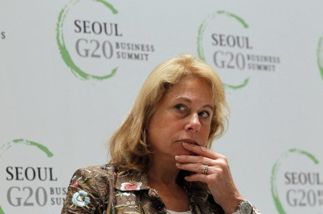 Chief Executive Officer of Anglo American Cynthia Carroll attends the G20 CEO Summit in Seoul November 10, 2010. REUTERS/Aly Song