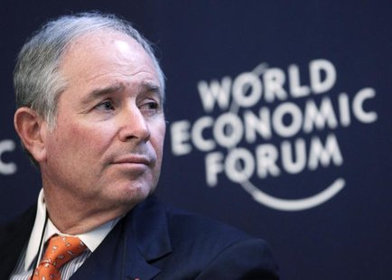 Stephen Schwarzman, chairman and CEO of the Blackstone Group, attends the annual meeting of the World Economic Forum in Davos January 24, 20
