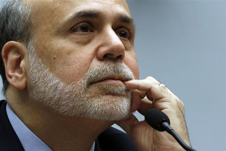 Chairman of the U.S. Federal Reserve Ben Bernanke testifies at the House Committee on Financial Services on Capitol Hill in Washington, Febr