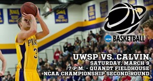 UWSP Men to host Calvin College in NCAA Round Two March 9th