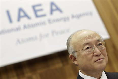 Iran's International Atomic Energy Agency (IAEA) Director General Yukiya Amano reacts as he attends a board of governors meeting at the UN h
