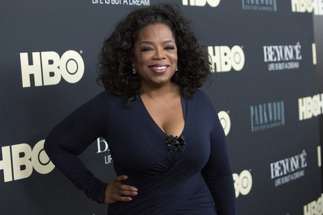 "Television personality Oprah Winfrey attends HBO's New York premiere of the documentary ""Beyonce - Life is But a Dream"" in New York February"
