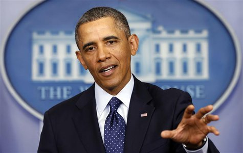 U.S. President Barack Obama speaks about the sequester after a meeting with congressional leaders at the White House in Washington March 1,